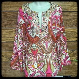 Lane Bryant 14/16 multicolored tunic